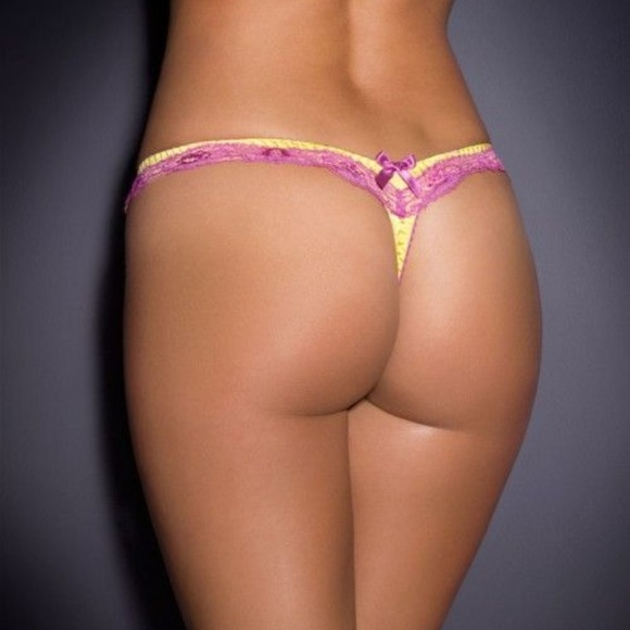 Agent Provocateur Other - NWT Agent Provocateur Yellow Silk Lucie Thong AP2